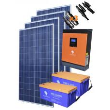 Автономная солнечная электростанция 3800 Вт.ч/сутки комплект